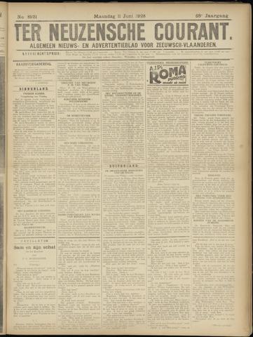 Ter Neuzensche Courant. Algemeen Nieuws- en Advertentieblad voor Zeeuwsch-Vlaanderen / Neuzensche Courant ... (idem) / (Algemeen) nieuws en advertentieblad voor Zeeuwsch-Vlaanderen 1928-06-11