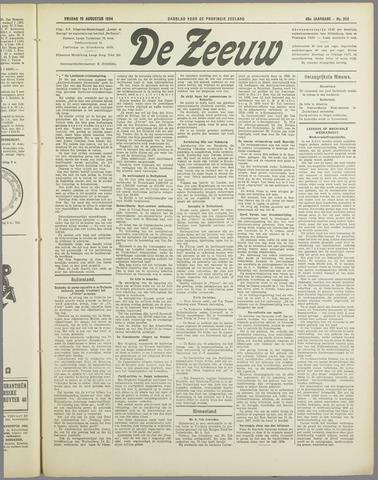 De Zeeuw. Christelijk-historisch nieuwsblad voor Zeeland 1934-08-10
