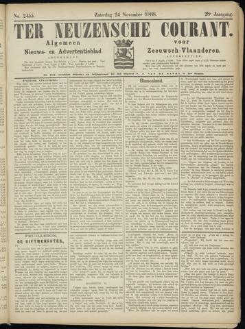 Ter Neuzensche Courant. Algemeen Nieuws- en Advertentieblad voor Zeeuwsch-Vlaanderen / Neuzensche Courant ... (idem) / (Algemeen) nieuws en advertentieblad voor Zeeuwsch-Vlaanderen 1888-11-24