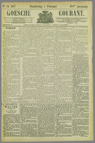 Goessche Courant 1917-02-01