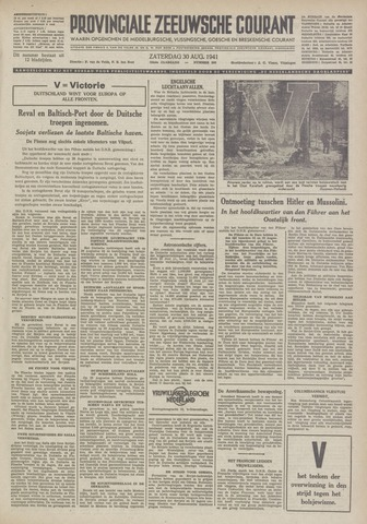 Provinciale Zeeuwse Courant 1941-08-30