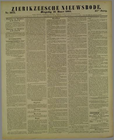 Zierikzeesche Nieuwsbode 1889-03-26