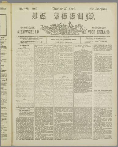 De Zeeuw. Christelijk-historisch nieuwsblad voor Zeeland 1912-04-30