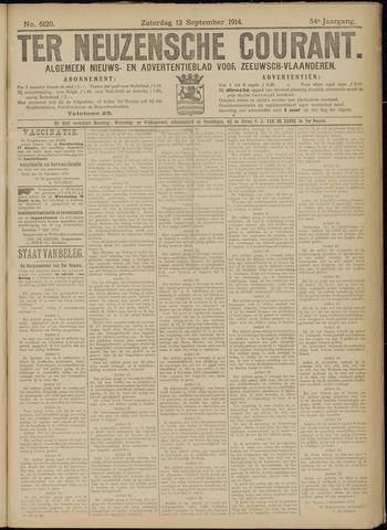 Ter Neuzensche Courant. Algemeen Nieuws- en Advertentieblad voor Zeeuwsch-Vlaanderen / Neuzensche Courant ... (idem) / (Algemeen) nieuws en advertentieblad voor Zeeuwsch-Vlaanderen 1914-09-12