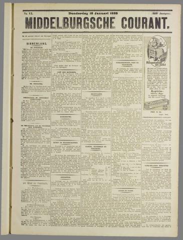 Middelburgsche Courant 1925-01-15