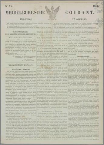 Middelburgsche Courant 1854-08-10
