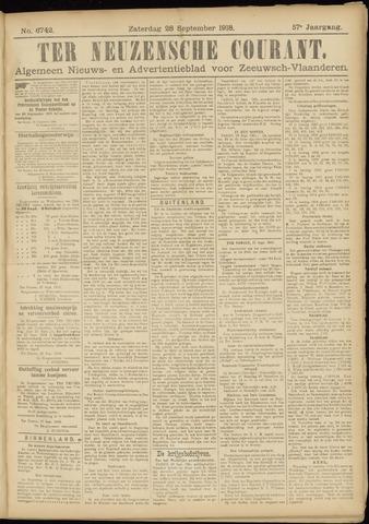 Ter Neuzensche Courant. Algemeen Nieuws- en Advertentieblad voor Zeeuwsch-Vlaanderen / Neuzensche Courant ... (idem) / (Algemeen) nieuws en advertentieblad voor Zeeuwsch-Vlaanderen 1918-09-28