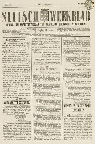 Sluisch Weekblad. Nieuws- en advertentieblad voor Westelijk Zeeuwsch-Vlaanderen 1865-10-20