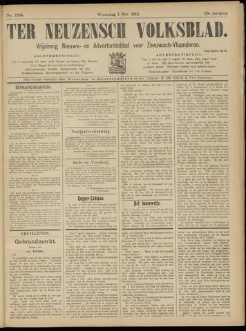 Ter Neuzensch Volksblad. Vrijzinnig nieuws- en advertentieblad voor Zeeuwsch- Vlaanderen / Zeeuwsch Nieuwsblad. Nieuws- en advertentieblad voor Zeeland 1912-05-01