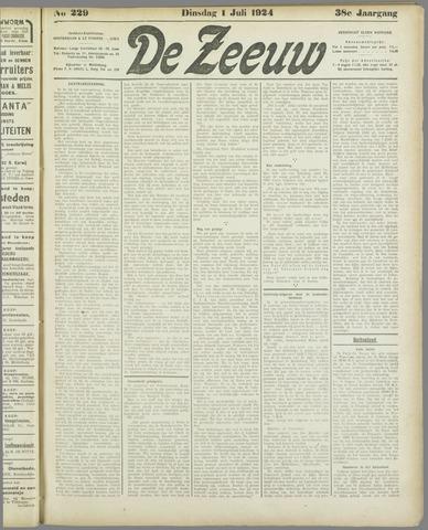 De Zeeuw. Christelijk-historisch nieuwsblad voor Zeeland 1924-07-01