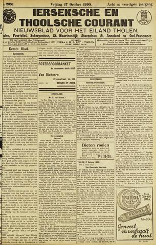 Ierseksche en Thoolsche Courant 1930-10-17