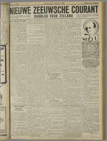 Nieuwe Zeeuwsche Courant 1920-10-07