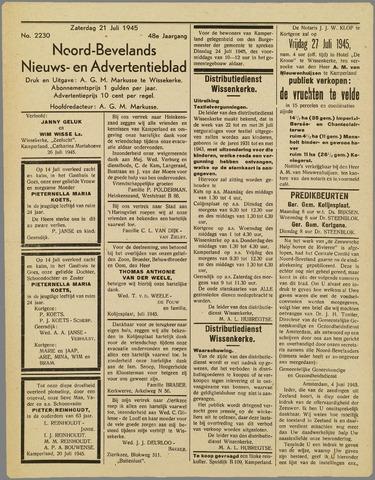 Noord-Bevelands Nieuws- en advertentieblad 1945-07-21