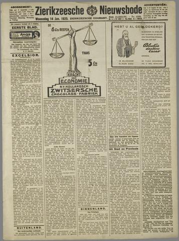 Zierikzeesche Nieuwsbode 1925-01-14