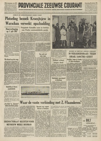 Provinciale Zeeuwse Courant 1956-10-20
