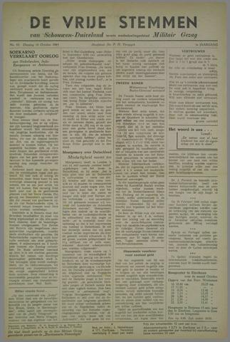 Vrije Stemmen van Schouwen-Duiveland, tevens mededeelingenblad Militair Gezag 1945-10-16