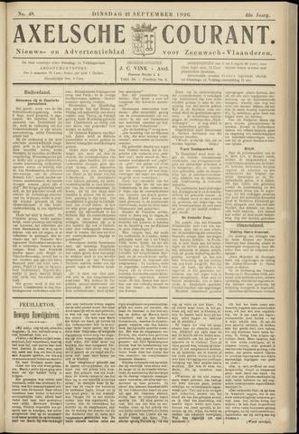 Axelsche Courant 1926-09-21