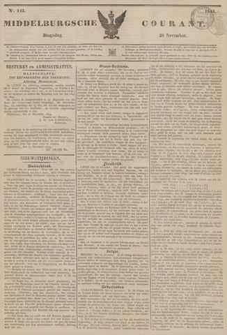Middelburgsche Courant 1843-11-28