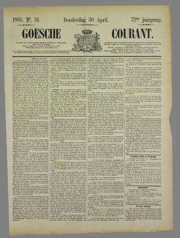 Goessche Courant 1885-04-30
