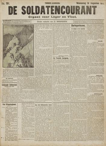 De Soldatencourant. Orgaan voor Leger en Vloot 1915-08-18