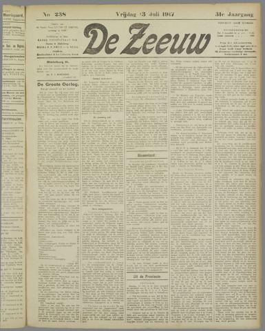 De Zeeuw. Christelijk-historisch nieuwsblad voor Zeeland 1917-07-13