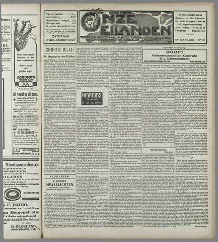 Onze Eilanden 1927-12-03