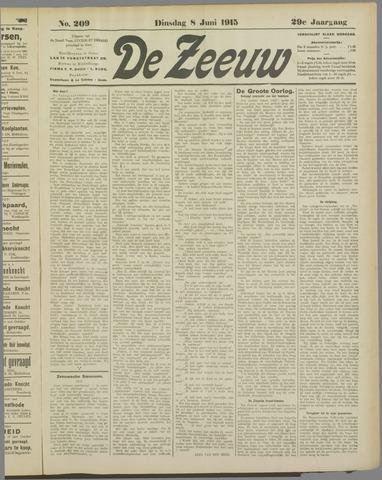 De Zeeuw. Christelijk-historisch nieuwsblad voor Zeeland 1915-06-08