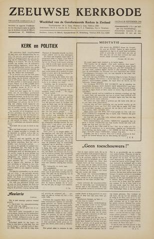 Zeeuwsche kerkbode, weekblad gewijd aan de belangen der gereformeerde kerken/ Zeeuwsch kerkblad 1956-09-28
