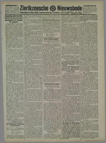 Zierikzeesche Nieuwsbode 1933-09-13