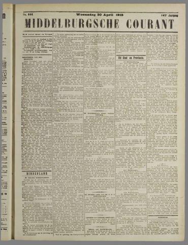 Middelburgsche Courant 1919-04-30