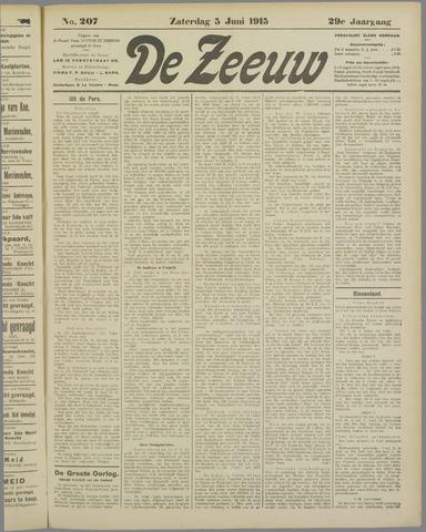 De Zeeuw. Christelijk-historisch nieuwsblad voor Zeeland 1915-06-05