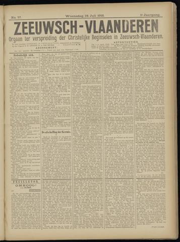 Luctor et Emergo. Antirevolutionair nieuws- en advertentieblad voor Zeeland / Zeeuwsch-Vlaanderen. Orgaan ter verspreiding van de christelijke beginselen in Zeeuwsch-Vlaanderen 1918-07-24