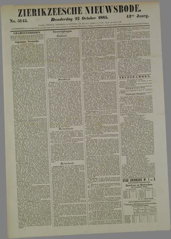Zierikzeesche Nieuwsbode 1885-10-22