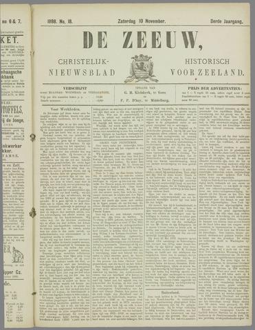 De Zeeuw. Christelijk-historisch nieuwsblad voor Zeeland 1888-11-10