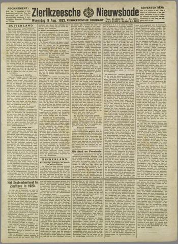 Zierikzeesche Nieuwsbode 1922-08-09