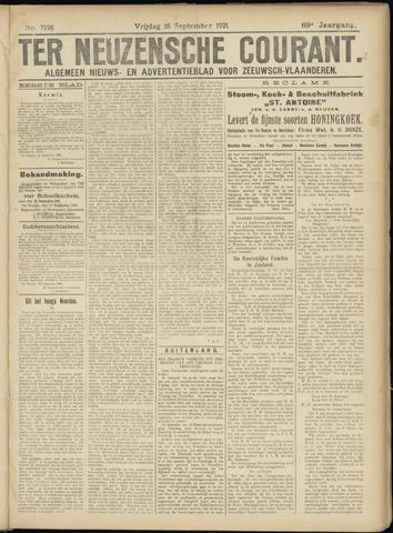 Ter Neuzensche Courant. Algemeen Nieuws- en Advertentieblad voor Zeeuwsch-Vlaanderen / Neuzensche Courant ... (idem) / (Algemeen) nieuws en advertentieblad voor Zeeuwsch-Vlaanderen 1921-09-16