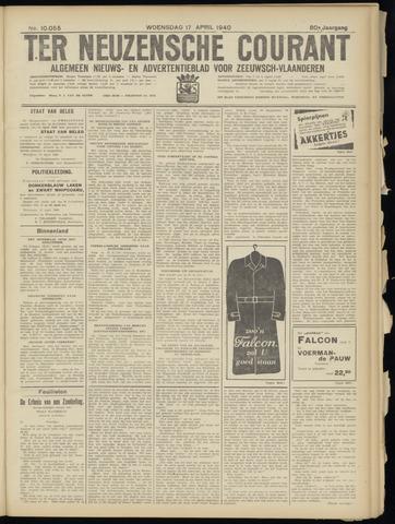 Ter Neuzensche Courant. Algemeen Nieuws- en Advertentieblad voor Zeeuwsch-Vlaanderen / Neuzensche Courant ... (idem) / (Algemeen) nieuws en advertentieblad voor Zeeuwsch-Vlaanderen 1940-04-17