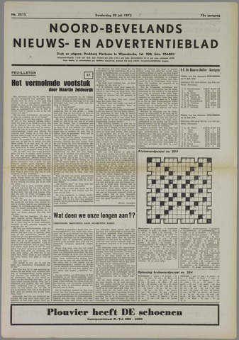 Noord-Bevelands Nieuws- en advertentieblad 1972-07-20