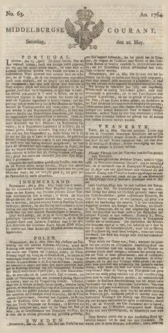 Middelburgsche Courant 1764-05-26
