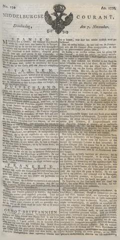 Middelburgsche Courant 1776-11-07
