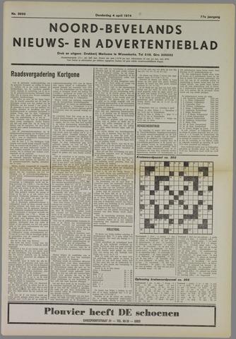Noord-Bevelands Nieuws- en advertentieblad 1974-04-04
