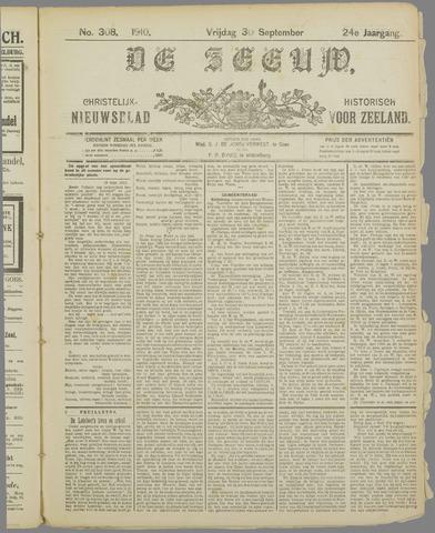 De Zeeuw. Christelijk-historisch nieuwsblad voor Zeeland 1910-09-30