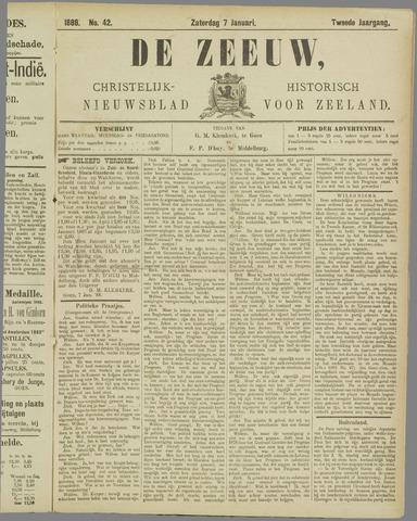 De Zeeuw. Christelijk-historisch nieuwsblad voor Zeeland 1888-01-07