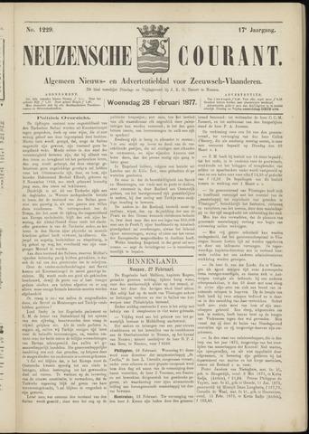 Ter Neuzensche Courant. Algemeen Nieuws- en Advertentieblad voor Zeeuwsch-Vlaanderen / Neuzensche Courant ... (idem) / (Algemeen) nieuws en advertentieblad voor Zeeuwsch-Vlaanderen 1877-02-28