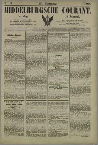 Middelburgsche Courant 1888-01-13