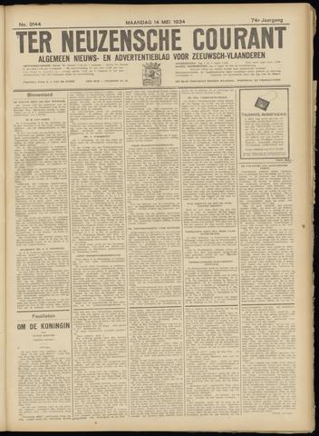 Ter Neuzensche Courant. Algemeen Nieuws- en Advertentieblad voor Zeeuwsch-Vlaanderen / Neuzensche Courant ... (idem) / (Algemeen) nieuws en advertentieblad voor Zeeuwsch-Vlaanderen 1934-05-14