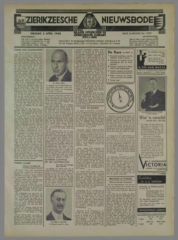 Zierikzeesche Nieuwsbode 1940-04-05