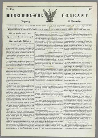 Middelburgsche Courant 1855-11-13