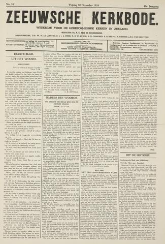 Zeeuwsche kerkbode, weekblad gewijd aan de belangen der gereformeerde kerken/ Zeeuwsch kerkblad 1935-12-20