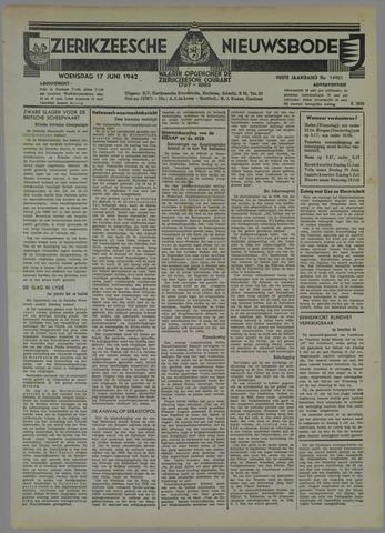 Zierikzeesche Nieuwsbode 1942-06-17